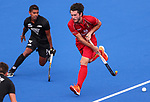 during the Pro League Hockey match between the Blacksticks men and Belgium, National Hockey Arena, Auckland, New Zealand, Sunday 2 February 2020. Photo: Simon Watts/www.bwmedia.co.nz