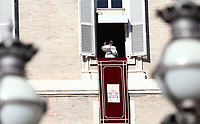 Papa Francesco recita l'Angelus affacciato su piazza San Pietro dalla finestra del suo studio. Citta' del Vaticano 26 dicembre 2019.<br /> Pope Francis recites the Angelus noon prayer from the window of his studio overlooking St. Peter's Square, at the Vatican, on December 26, 2019.<br /> UPDATE IMAGES PRESS/Isabella Bonotto<br /> <br /> STRICTLY ONLY FOR EDITORIAL USE