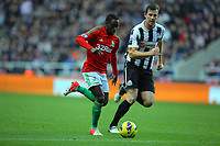 Saturday 17 November 2012<br /> Pictured L-R: Nathan Dyer of Swansea against Mike Williamson of Newcastle <br /> Re: Barclay's Premier League, Newcastle United v Swansea City FC at St James' Park, Newcastle Upon Tyne, UK.