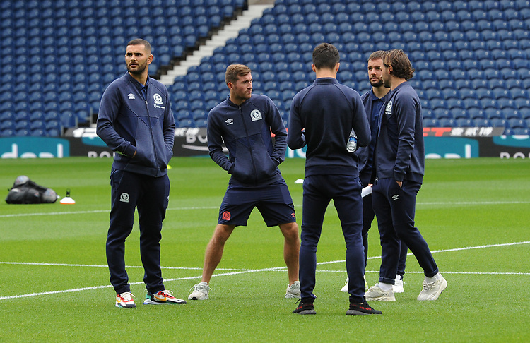 Blackburn Rovers' Bradley Johnson, Joe Rothwell, John Buckley, Adam Armstrong and Bradley Dack<br /> <br /> Photographer Kevin Barnes/CameraSport<br /> <br /> The EFL Sky Bet Championship - West Bromwich Albion v Blackburn Rovers - Saturday 31st August 2019 - The Hawthorns - West Bromwich<br /> <br /> World Copyright © 2019 CameraSport. All rights reserved. 43 Linden Ave. Countesthorpe. Leicester. England. LE8 5PG - Tel: +44 (0) 116 277 4147 - admin@camerasport.com - www.camerasport.com