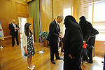 Citizens of the city of Chicago greet Mayor Rahm Emanuel in an open house in the mayor's office on the Fifth Floor of City Hall in Chicago, Illinois on May 16, 2011.