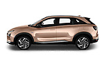 Car Driver side profile view of a 2019 Hyundai Nexo - 5 Door SUV Side View