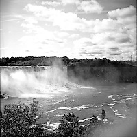This iconic view from the Canadian side of the falls looks new to me through my Ricoflex TLR. 2014