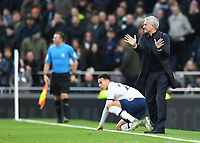 30th November 2019; Tottenham Hotspur Stadium, London, England; English Premier League Football, Tottenham Hotspur versus AFC Bournemouth; Jose Mourinho Manager for Tottenham Hotspur gestures to Referee Lee Mason - Strictly Editorial Use Only. No use with unauthorized audio, video, data, fixture lists, club/league logos or 'live' services. Online in-match use limited to 120 images, no video emulation. No use in betting, games or single club/league/player publications