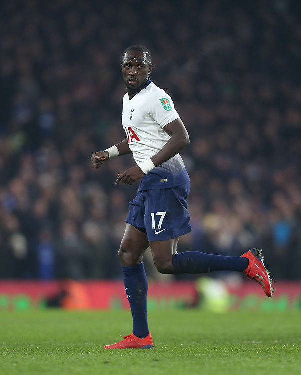 Tottenham Hotspur's Moussa Sissoko<br /> <br /> Photographer Rob Newell/CameraSport<br /> <br /> The Carabao Cup Semi-Final Second Leg - Chelsea v Tottenham Hotspur - Thursday 24th January 2019 - Stamford Bridge - London<br />  <br /> World Copyright © 2018 CameraSport. All rights reserved. 43 Linden Ave. Countesthorpe. Leicester. England. LE8 5PG - Tel: +44 (0) 116 277 4147 - admin@camerasport.com - www.camerasport.com