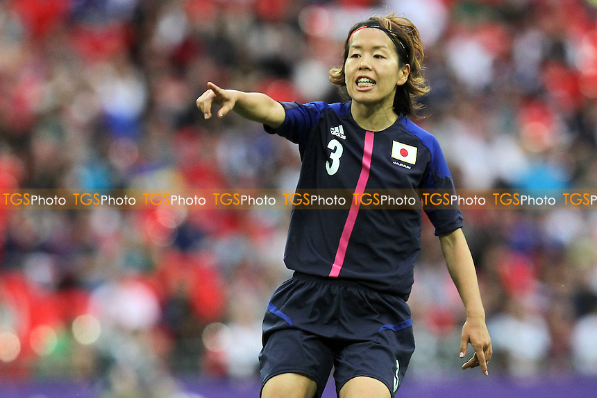 Azusa IWASHIMIZU of Japan - France Women vs Japan Women - Womens Olympic Football Tournament London 2012 Semi-Final at Wembley Stadium - 06/08/12 - MANDATORY CREDIT: Gavin Ellis/SHEKICKS/TGSPHOTO - Self billing applies where appropriate - 0845 094 6026 - contact@tgsphoto.co.uk - NO UNPAID USE.