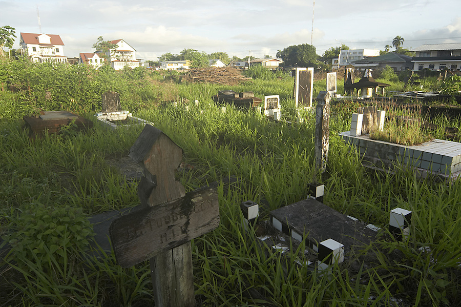 Abandoned cemetery in Paramaribo, Suriname.