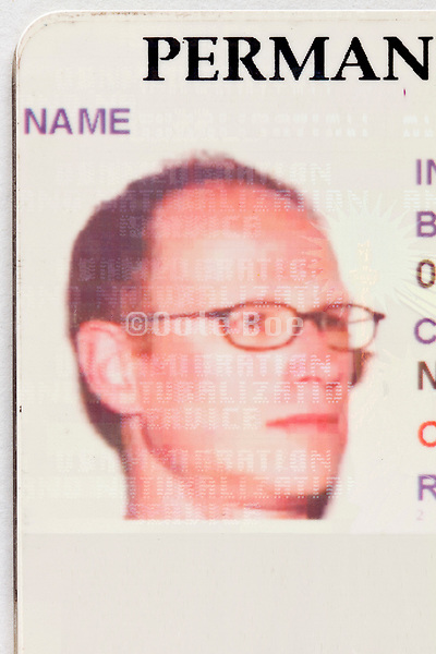 ID photo on a USA Permanent Resident Card or green card