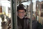 Jef Geeraert at the railway station in Gent, Belgium.