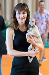 Natalia de Molina with her dog Hugo during 'Las Ninas' filming. August 2, 2019. (ALTERPHOTOS/Francis González)