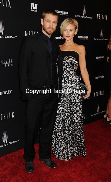 BEVERLY HILLS, CA- JANUARY 12: Actors Chad Michael Murray (L) and Nicky Whelan attend The Weinstein Company &amp; Netflix 2014 Golden Globes After Party held at The Beverly Hilton Hotel on January 12, 2014 in Beverly Hills, California.<br />