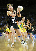Silver Ferns Adine Wilson in action during the netball test match between the Silver Ferns v Australia played at the Sydney Superdome, Sydney Australia, 29th June 2005. ©Michael Bradley