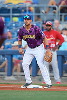Charlotte Stone Crabs first baseman Nathaniel Lowe (36) during a game against the Palm Beach Cardinals on April 21, 2018 at Charlotte Sports Park in Port Charlotte, Florida.  Charlotte defeated Palm Beach 5-2.  (Mike Janes/Four Seam Images)