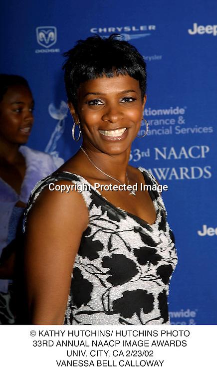 © KATHY HUTCHINS/ HUTCHINS PHOTO.33RD ANNUAL NAACP IMAGE AWARDS.UNIV. CITY, CA 2/23/02.VANESSA BELL CALLOWAY