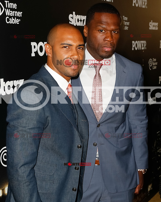 """New York, NY -  June 2 : Executive Producer Curtis """"50 Cent"""" Jackson and Actor Omari Hardwick attend the Power Premiere held at the Highline Ballroom on June 2, 2014 in New York City. Photo by Brent N. Clarke / Starlitepics"""