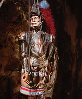 Puppet of Sicilan traditional theater, work of art by Mimmo Cuticchio.<br /> Il pupo della tradizione siciliana, opera di Mimmo Cuticchio.