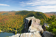 Dixville Notch in Dixville, New Hampshire USA from Table Rock during the autumn months. The views from this viewpoint are breathtaking.