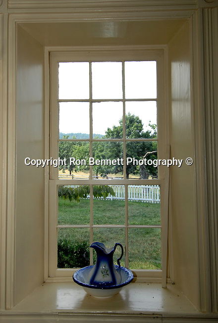 Farm window with pitcher and basin Commonwealth of Virginia, Fine Art Photography by Ron Bennett, Fine Art, Fine Art photography, Art Photography, Copyright RonBennettPhotography.com ©