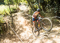Picture by Alex Broadway/SWpix.com - 07/09/17 - Cycling - UCI 2017 Mountain Bike World Championships - XCO - Cairns, Australia - Daniel Tulett of Great Britain competes in the Men's Junior World Championship Race.