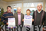 Cúnamh Iveragh prepares for another season of 'Top Entertainment' pictured here l-r; Brendan Murphy(Secretary), Muiris O'Donoghue(Chairman), Teresa Cronin(Treasurer), & James O'Sullivan.