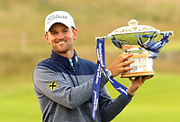 Bernd Wiesberger (AUT) winner of the Aberdeen Standard Investments Scottish Open, Renaissance Club, North Berwick, East Lothian, Scotland. 14/07/2019.<br />