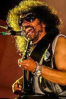 el guitarrista y cantante de rock y Blues, Javier Batiz , durante la noche de su concierto  en la Expogan. HermosilloSonoraMexico. <br /> &copy;Foto: LuisGutierrez/NORTEPHOTO.COM