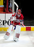 23 January 2010: Montreal Canadiens' goaltender Jaroslav Halak returns to the ice after being voted second star of the game for his shutout against the New York Rangers at the Bell Centre in Montreal, Quebec, Canada. The Canadiens shut out the Rangers 6-0. Mandatory Credit: Ed Wolfstein Photo