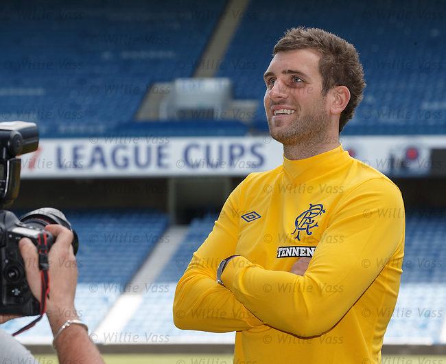Cammy Bell at Ibrox as he signs a four year deal with Rangers