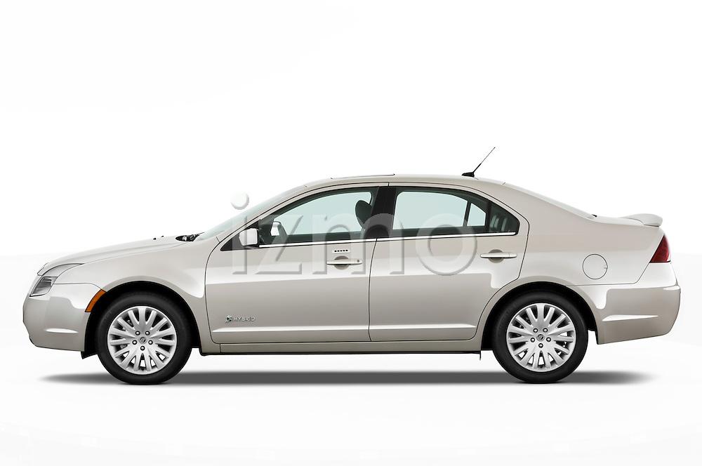 Driver side profile view of a 2010 Mercury Milan Hybrid.