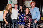 Ashlyn O'Brien, Tralee celebrating her 31st birthday with friends and family at the Stone house on Saturday Pictured Ciara O'Regan, Paul Sugrue, Ashlyn O'Brien, Marie O'Brien and  Tom O'Brien