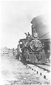 Engine #164 taking water at Tres Piedras, NM.<br /> D&amp;RG  Tres Piedras, NM  ca 1910