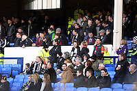Pictured: Swansea supporters. Sunday 16 February 2014<br />