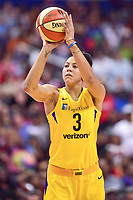 Washington, DC - August 17, 2018: Los Angeles Sparks forward Candace Parker (3) at the free throw line during game between the Washington Mystics and Los Angeles Sparks at the Capital One Arena in Washington, DC. (Photo by Phil Peters/Media Images International)