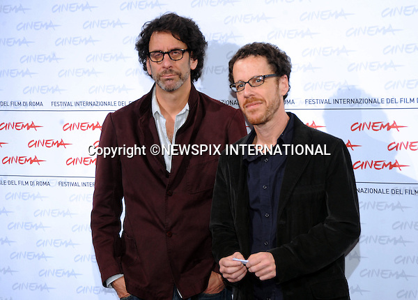 "JOEL AND ETHAN COEN.""Julie & Julia"" screening, 4th International Rome Film Festival,  Auditorium Parco della Musica, Rome_23/10/2009.Mandatory Credit Photo: ©NEWSPIX INTERNATIONAL..**ALL FEES PAYABLE TO: ""NEWSPIX INTERNATIONAL""**..IMMEDIATE CONFIRMATION OF USAGE REQUIRED:.Newspix International, 31 Chinnery Hill, Bishop's Stortford, ENGLAND CM23 3PS.Tel:+441279 324672  ; Fax: +441279656877.Mobile:  07775681153.e-mail: info@newspixinternational.co.uk"