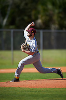 Central Michigan Chippewas starting pitcher Pat Leatherman (17) delivers a pitch during a game against the Boston College Eagles on March 3, 2017 at North Charlotte Regional Park in Port Charlotte, Florida.  Boston College defeated Central Michigan 5-4.  (Mike Janes/Four Seam Images)