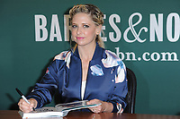 www.acepixs.com<br /> April 4, 2017  New York City<br /> <br /> Sarah Michelle Gellar signs copies of her cookbook ''Stirring Up Fun with Food: Over 115 Simple, Delicious Ways to Be Creative in the Kitchen', Barnes and Noble Book Store Fifth Ave on April 3, 2017 in New York City.<br /> <br /> Credit: Kristin Callahan/ACE Pictures<br /> <br /> <br /> Tel: 646 769 0430<br /> Email: info@acepixs.com