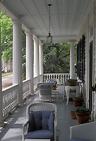 AJ2628, Beaufort, Inn, South Carolina, The front porch of The Rhett House Inn a Bed & Breakfast in the Historic District of Beaufort in the state of South Carolina.