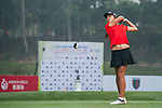 Brooke Hamilton of New Zealand tees off at tee one during the 9th Faldo Series Asia Grand Final 2014 golf tournament on March 18, 2015 at Mission Hills Golf Club in Shenzhen, China. Photo by Xaume Olleros / Power Sport Images