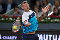 Dan Evans during the match of the Charity day previus at Madrid Open Tenis 2017in  Madrid, Spain. May 04, 2017. (ALTERPHOTOS/Rodrigo Jimenez) /NORTEPHOTO.COM
