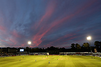 The sun sets over the ground during Glamorgan vs Essex Eagles, Vitality Blast T20 Cricket at the Sophia Gardens Cardiff on 7th August 2018