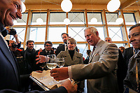 Amatrice 02/04/2017. Il Principe Carlo del Galles in visita nella zona terremotata di Amatrice<br /> Amatrice April 2nd 2017. Prince Charles of Wales visits Amatrice, hit by the earthquake of 24 August. <br /> Foto Pool / Protezione Civile / Insidefoto