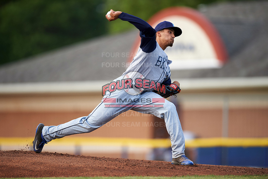 Brooklyn Cyclones starting pitcher Erik Manoah (35) during a game against the Batavia Muckdogs on July 6, 2016 at Dwyer Stadium in Batavia, New York.  Batavia defeated Brooklyn 15-2.  (Mike Janes/Four Seam Images)