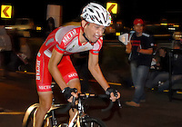 COLOMBIA. 16-08-2014. Alvaro Gomez ciclista durante la contrarreloj individual nocturna de 17.5 Km en la penúltima etapa de la Vuelta a Colombia 2014 en bicicleta que se cumple entre el 6 y el 17 de agosto de 2014. / Alvaro Gomez cyclist during the night individual time trial of 17.5 Km in the penultimate stage of the Tour of Colombia 2014 in bike holds between 6 and 17 of August 2014. Photo:  VizzorImage/ José Miguel Palencia / Str