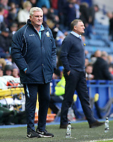 Sheffield Wednesday manager Steve Bruce looks on from the touchline<br /> <br /> Photographer David Shipman/CameraSport<br /> <br /> The EFL Sky Bet Championship - Sheffield Wednesday v Blackburn Rovers - Saturday 16th March 2019 - Hillsborough - Sheffield<br /> <br /> World Copyright &copy; 2019 CameraSport. All rights reserved. 43 Linden Ave. Countesthorpe. Leicester. England. LE8 5PG - Tel: +44 (0) 116 277 4147 - admin@camerasport.com - www.camerasport.com