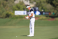 Ian Poulter (ENG) on the 2nd fairway during the preview for the DP World Tour Championship at the Earth course,  Jumeirah Golf Estates in Dubai, UAE,  18/11/2015.<br /> Picture: Golffile | Thos Caffrey<br /> <br /> All photo usage must carry mandatory copyright credit (© Golffile | Thos Caffrey)