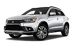 Stock pictures of low aggressive front three quarter view of a 2019 Mitsubishi ASX Invite Style 5 Door SUV