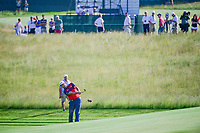 Jon Rahm (ESP) hits his approach shot on 11 during Thursday's round 1 of the 117th U.S. Open, at Erin Hills, Erin, Wisconsin. 6/15/2017.<br /> Picture: Golffile | Ken Murray<br /> <br /> <br /> All photo usage must carry mandatory copyright credit (&copy; Golffile | Ken Murray)