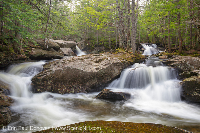 Jackman Falls on Jackman Brook in North Woodstock, New Hampshire USA during the spring months.