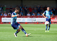 Joe Jacobson of Wycombe Wanderers during the Sky Bet League 2 match between Crawley Town and Wycombe Wanderers at Broadfield Stadium, Crawley, England on 6 August 2016. Photo by Alan  Stanford / PRiME Media Images.