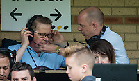 BBC Bill Turnbull with BBC Three counties Phil Catchpole during the Sky Bet League 2 match between Wycombe Wanderers and Accrington Stanley at Adams Park, High Wycombe, England on 21 April 2018. Photo by Andy Rowland.